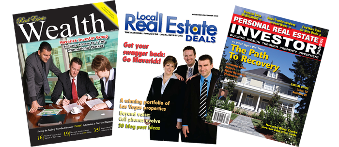 Maverick Investor Group featured in several real estate investing publications